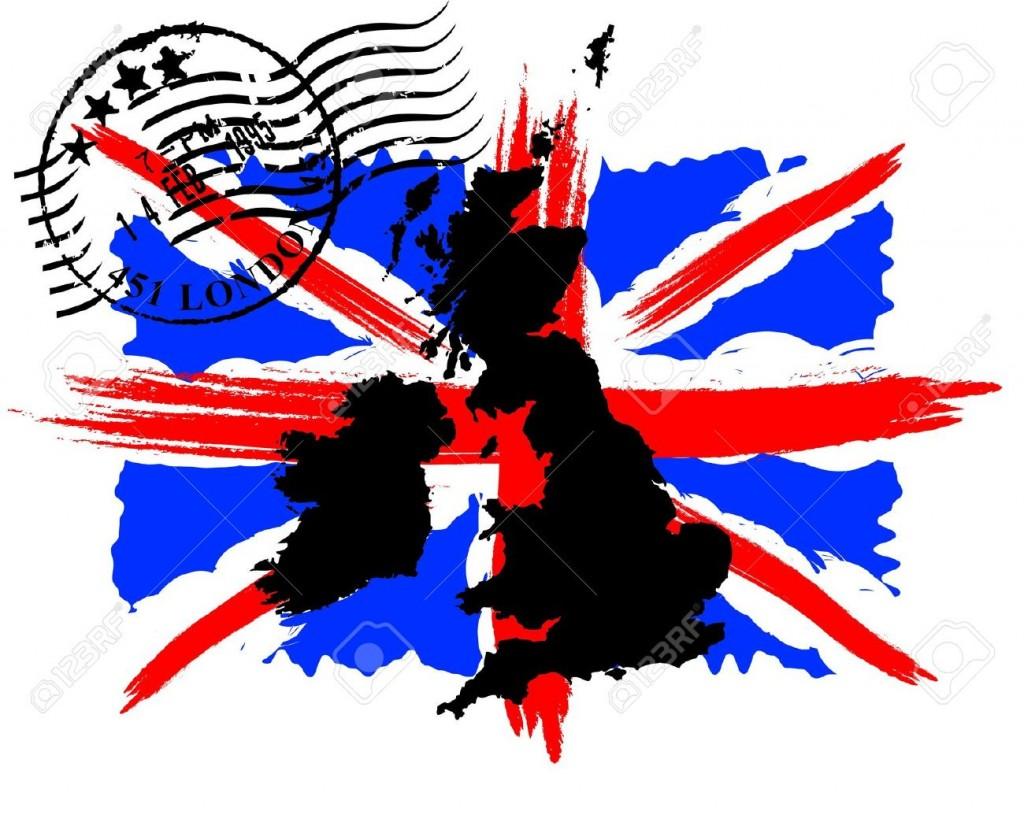 9589877-Bandiera-inglese-con-il-timbro-e-la-mappa-Archivio-Fotografico