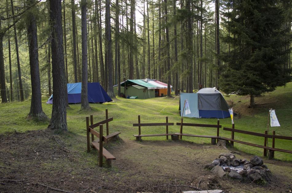 Le strutture del campeggio